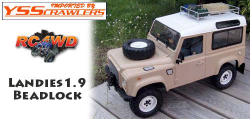 RC4WD 1.9 ランディース インターナル ビードロック ホイール [ホワイト][1台分]