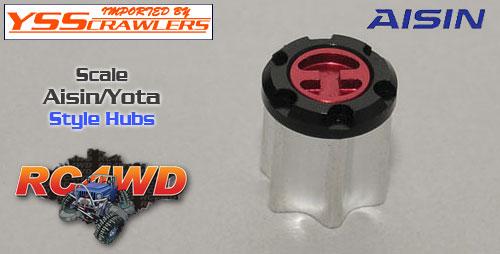 RC4WD AISIN/YOTA スタイル スケールハブ [2個]