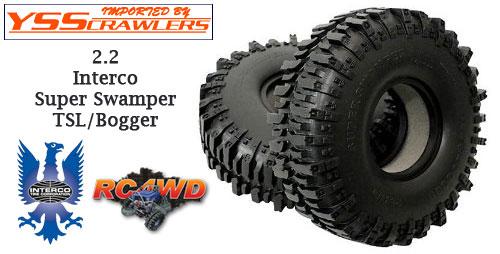 RC4WD インタレコ スーパースワンパー TSL/ボガー2.2 スケールタイヤ [ペア]
