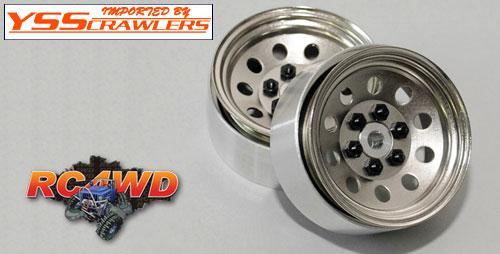 RC4WD プロ10 - 1.9スチールスタンプド ビードロックホイール[シルバー]
