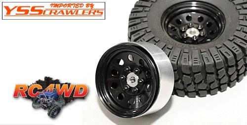 RC4WD プロ10 - 1.9スチールスタンプド ビードロックホイール[ブラック]