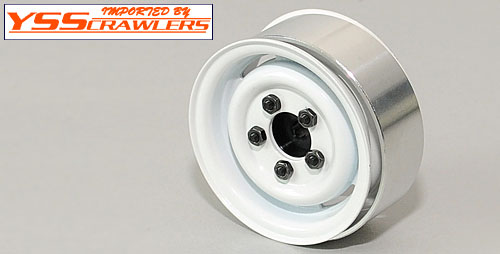 RC4WD 1.55 Landies Vintage Stamped Steel Beadlock Wheels [White]