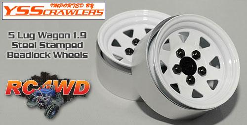 RC4WD 5 Lug ワゴン スチール スタンプド 1.9 ビードロック ホイール [ホワイト]