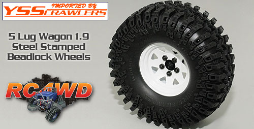 RC4WD 5 Lug Wagon 1.9 Steel Stamped Beadlock Wheels [White]