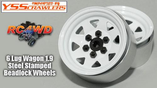 RC4WD 6 Lug ワゴン スチール スタンプド 1.9 ビードロック ホイール [ホワイト]