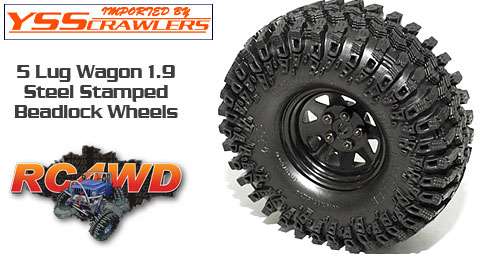 RC4WD 5 Lug ワゴン スチール スタンプド 1.9 ビードロック ホイール [ブラック]