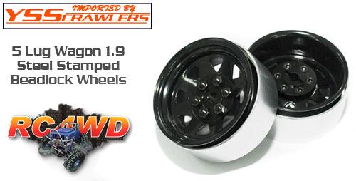 RC4WD 6 Lug ワゴン スチール スタンプド 1.9 ビードロック ホイール [ブラック]