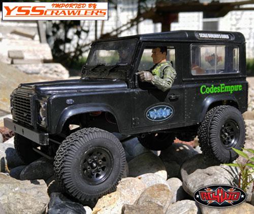 RC4WD スタンプド スチール 1インチ ビードロックホイール for スモールクローラー[ブラック]