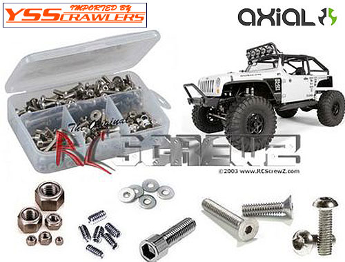 RC Screwz ステンレス六角ビスセット For Axial SCX10 - JEEP G6!