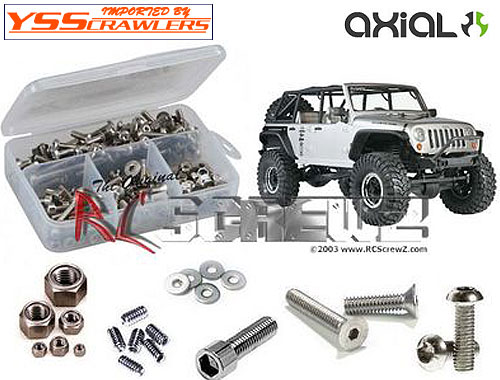 RC Screwz ステンレス六角ビスセット For Axial SCX10 - Jeep Rubicon JK!