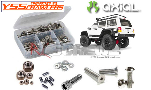RC Screwz ステンレス六角ビスセット For Axial SCX10-II - Jeep Cherokee Kit!