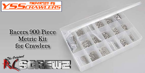 RC Screwz ステンレス六角ビス 900本セット For クローラー ビルダー