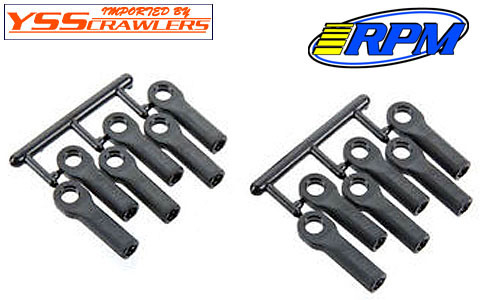 RPM #80512 Long Rod Ends for Revo! [12pcs][Black]