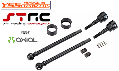 STRC Heat Treated Carbon Steel Universal kit for Axial SCX10 (1 pair) Black