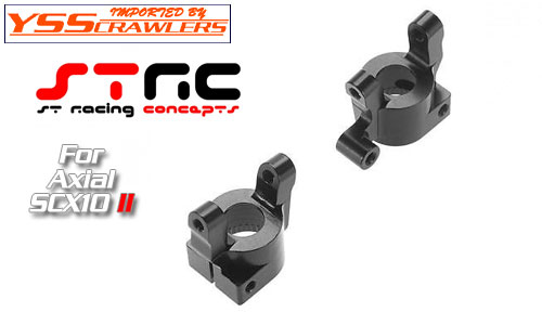 STRC Alum Front C-Hubs for SCX10-II! [Black][Pair]