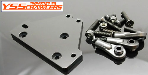 TCS Black Anodized Aluminum Upper Link/Servo Mount for Axial AX-10 Scorpion (1 each) US Patent Pending