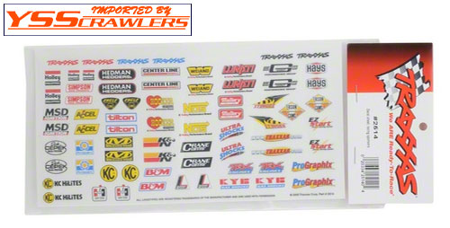 Traxxas Sponsor sticker sheet!