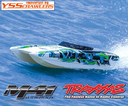 Traxxas カタマラン[Catamaran] M41 ボート![ワイドボディー][グリーン]