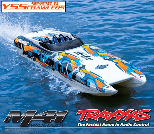 Traxxas カタマラン[Catamaran] M41 ボート![ワイドボディー][オレンジ]