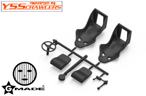 Gmade 1/10 Racing Seat [Black] [2seat]