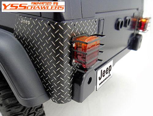 RC4WD リア コーナーガード for タミヤ ジープ![ブラック縞鋼板]