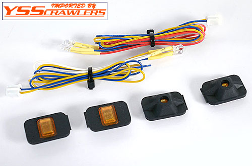 RC4WD 角型ライトセット![4個][黄LED][1/14サイズ]