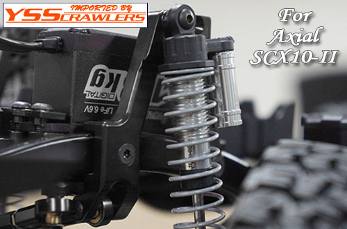 XS Adjustable Alum HD Front Shock Towers for SCX10-II!