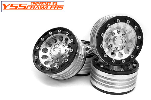 YSS Crawlers 1.9 Beadlock Wheels Type B! [Black-Silver][4pcs]