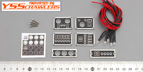 YSS Crawlers 1/10 Real Scale Control Panel kit