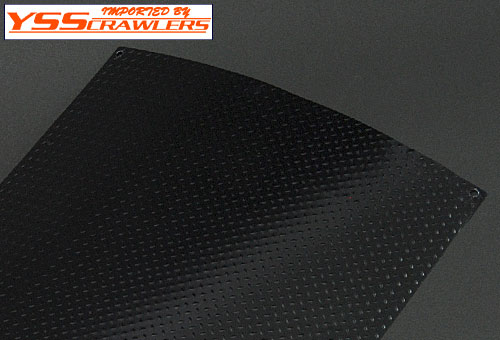 YSS 1/10 scale aluminum Diamond Plate! [Black]