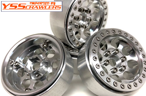 YSS Crawlers 1.9 Beadlock Wheels Type D! [Silver-Silver][4pcs]