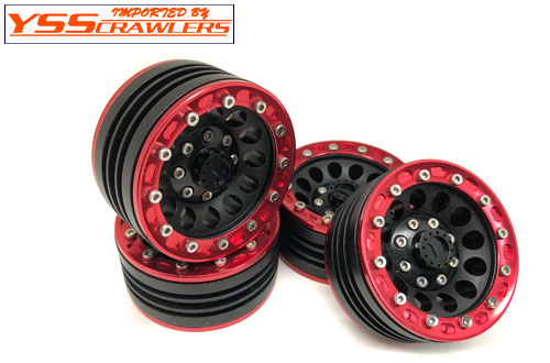 YSS Crawlers 1.9 Beadlock Wheels Type E! [Black-Red][4pcs]