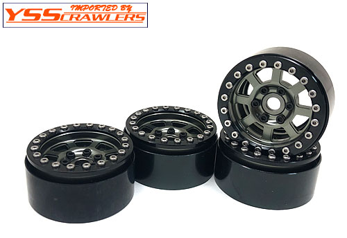 YSS Crawlers 1.9 Beadlock Wheels Type G! [Black-Gray][4pcs]