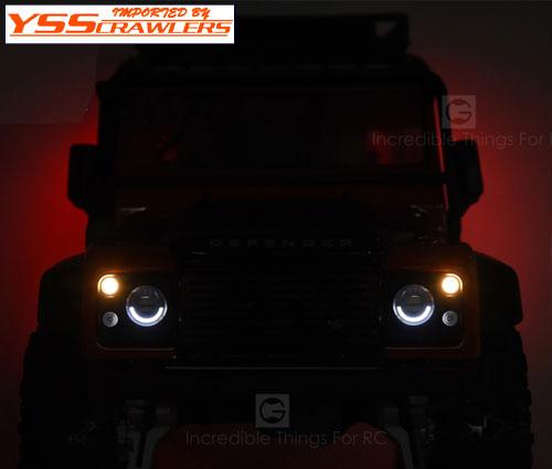 YSS GRC LEDライトキット for TRX-4 Defender D110![イカリング][コントロール]