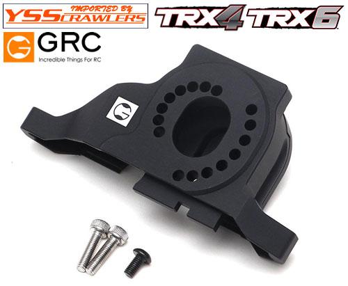 YSS GRC - 7075 アルミ 1ピースモーターマウント for TRX-4![ブラック][全車種対応]