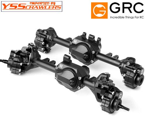 YSS GRC G2 アッカーマン フルアルミ アクスル for Traxxas TRX-4![前後][ブラック]