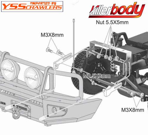 YSS Killer LandCruiser 70 ARB Bull Bar Front Bumper
