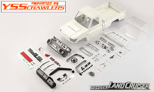 ATees 1/10 Toyota Land Cruiser LC70 Hard Body Set DIY Version