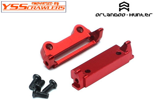 Team Raffee Aluminum Front & Rear Frame Brace Red for Orlandoo Hunter Jeep Rubicon
