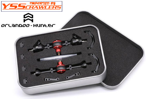 Orlandoo Hunter Model 55mm Metal Front & Rear Axle Set Black for Orlandoo Hunter Defender