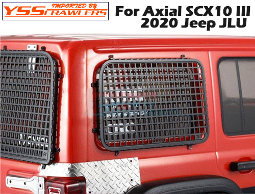 YSS メタル ウィンドーガード for Axial 2020 JEEP JLUボディー!