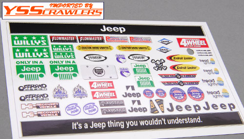 YSS JEEP Sticker Set!