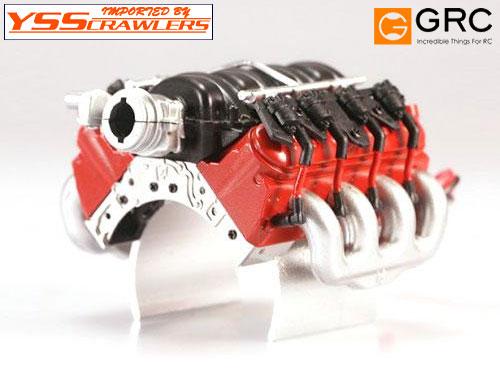 YSS TDC 1/10 LS3 6.2L V8 エンジン モータークーラー![レッド]