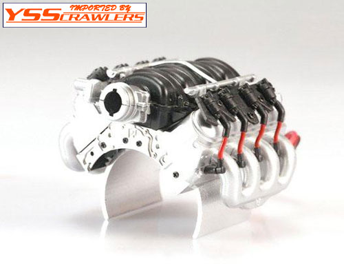 YSS TDC 1/10 LS3 6.2L V8 エンジン モータークーラー![シルバー]