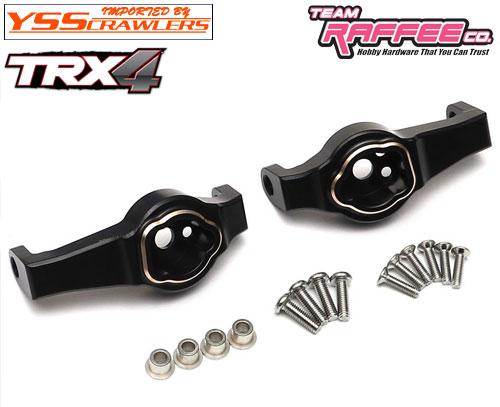 YSS ラフィー ブラス フロント Cハブ for Traxxas TRX-4![ブラック]