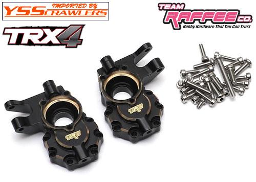 YSS ラフィー ブラス フロントステアリングナックル for Traxxas TRX-4![ブラック]