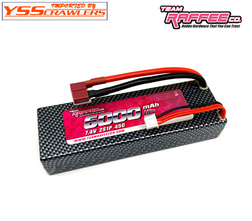 YSS TRC リポバッテリー 2セル[7.4v] 6,000mA/h 45C LiPoバッテリー!