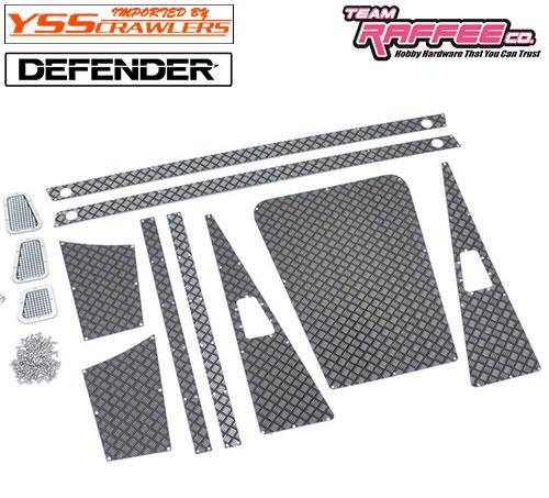 YSS TRC ダイアモンドプレートセット [ブラック] for TRC ディフェンダー D90 D110 ピックアップ!