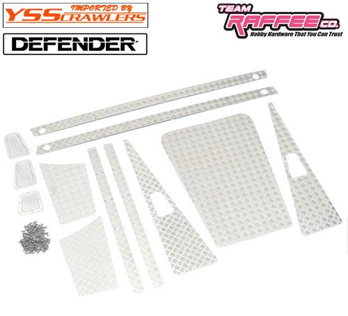 YSS TRC ダイアモンドプレートセット [シルバー] for TRC ディフェンダー D90 D110 ピックアップ!