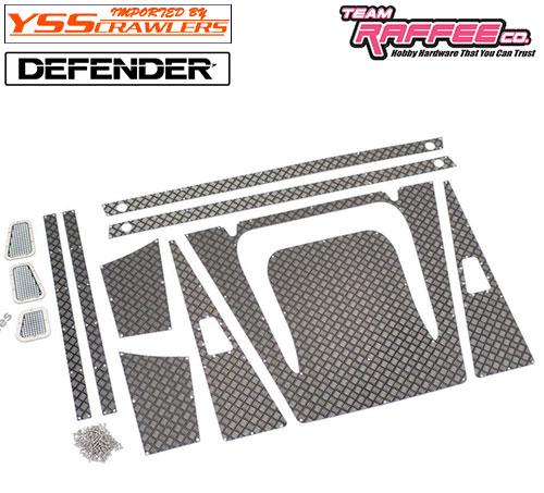 YSS TRC ダイアモンドプレートセット [ブラック] for TRC ディフェンダー D90 D110 ワゴン!